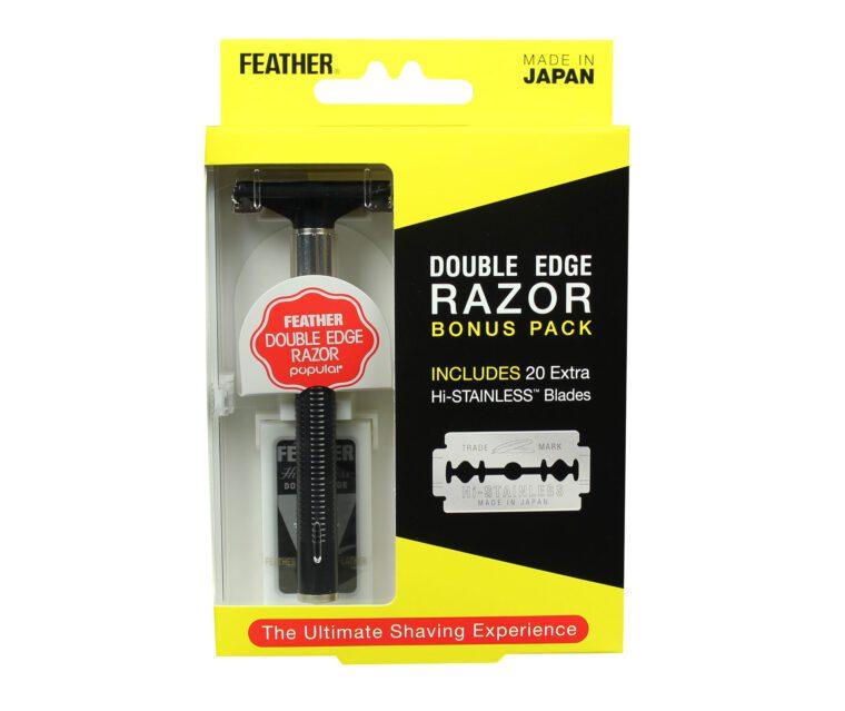 Feather Double Edge Razor Bonus Pack