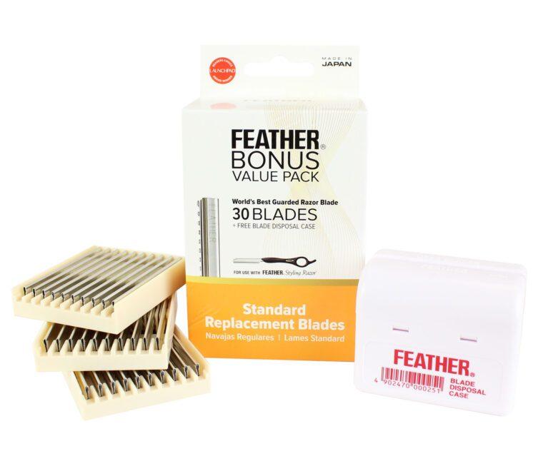 Feather Bonus Value Pack Standard Blades - Disposal Case